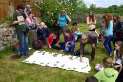 2014: Schüler aus Zgorzelec (Polen) bei einem Besuch im Rahmen des Biologieunterrichts zum Thema Hecken.