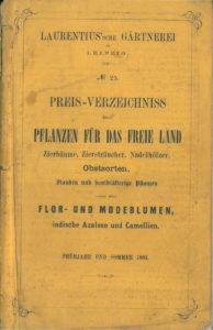 Titelbild Laurentius'sche Gärtnerei Leipzig 1863